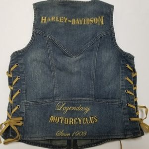 Womens Harley Davidson Raw Hide Riding Vest Size M
